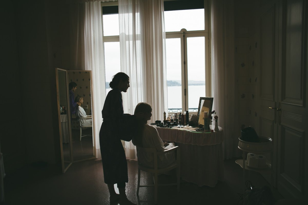 Lake Maggiore wedding photographer. Bride getting ready. Destination wedding photographer Stresa, Verbania, Luino