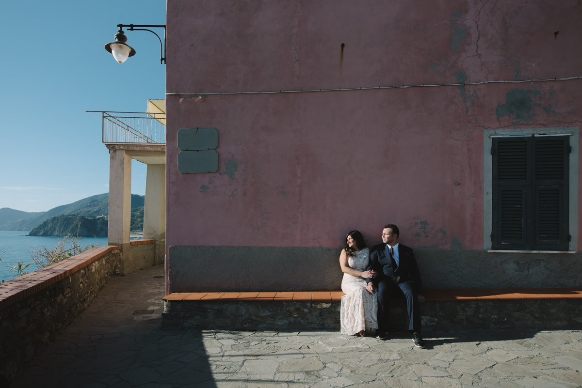 Cinque Terre wedding photographer. Elopement in Italian Riviera