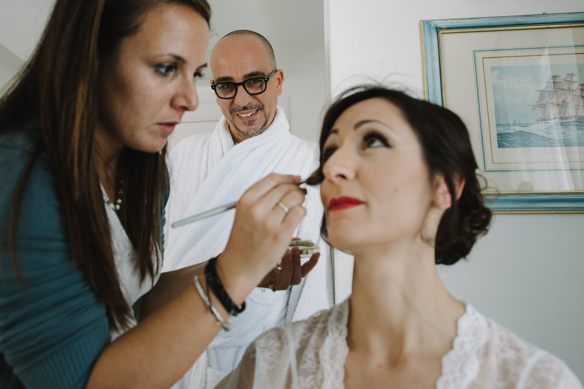 Bride Make up, wedding in Italy - Roncaglione photography