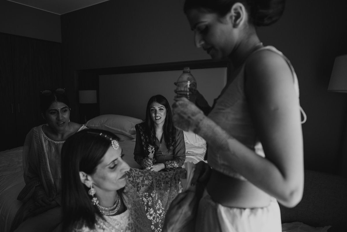 Luxury Indian wedding in Italy, wedding in Lake Como. Bride getting ready
