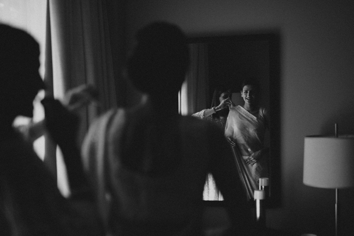 Indian wedding in Italy, wedding in Lake Como. Bride getting ready