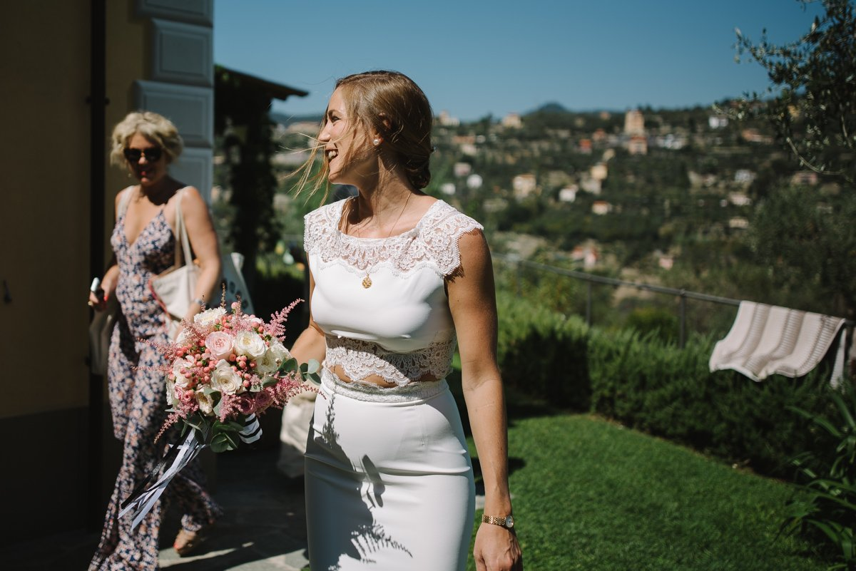 Wedding photographer in Portofino. Bride. Destination wedding in italian riviera