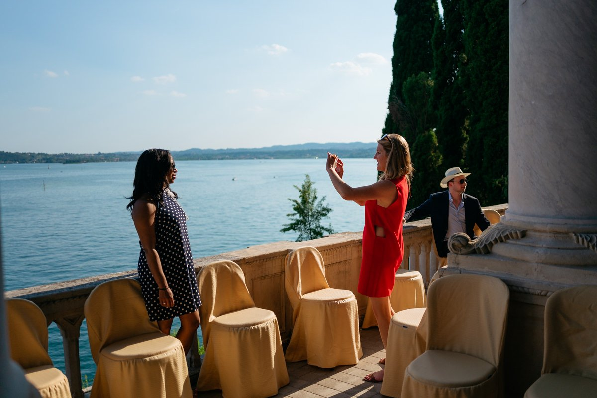 Destination wedding photographer in Lake Garda. Overlooking the lake