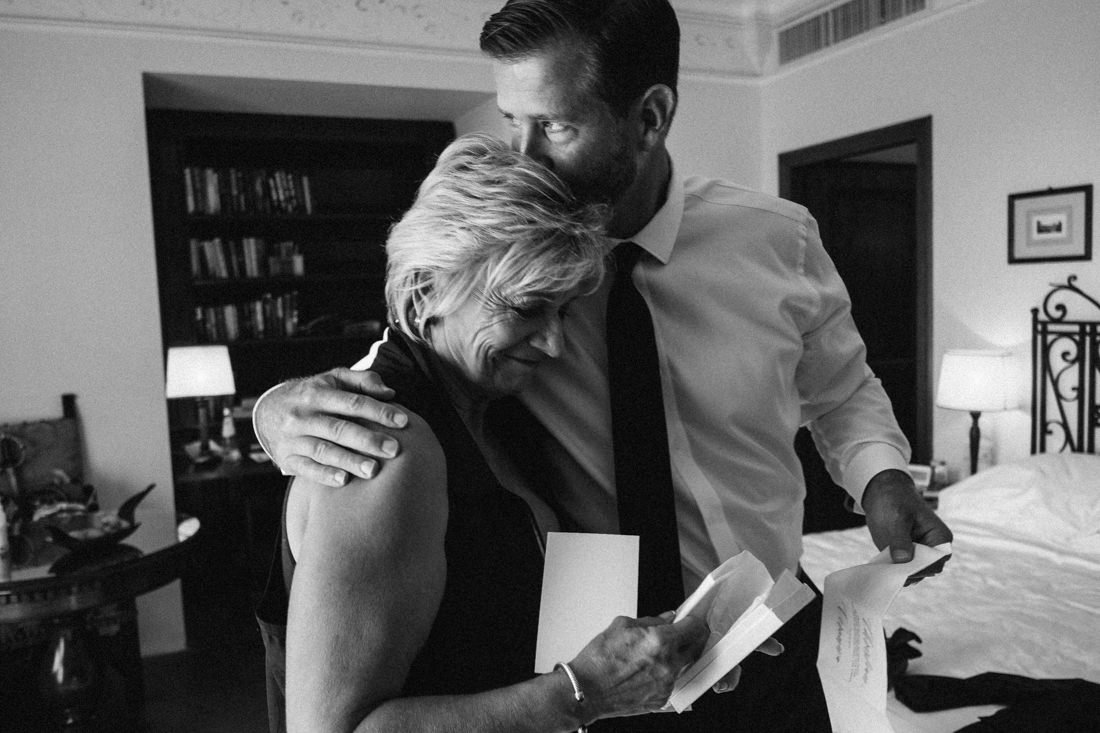 Destination wedding in Florence, groom and his mother
