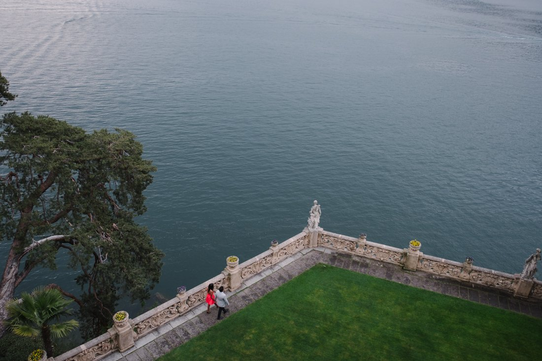 Indian wedding proposal in Villa Balbianello, Lake Como