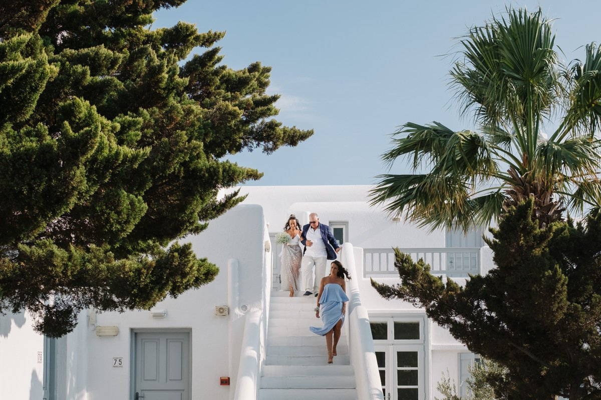 Destination wedding photographer Mykonos, wedding in greek island.