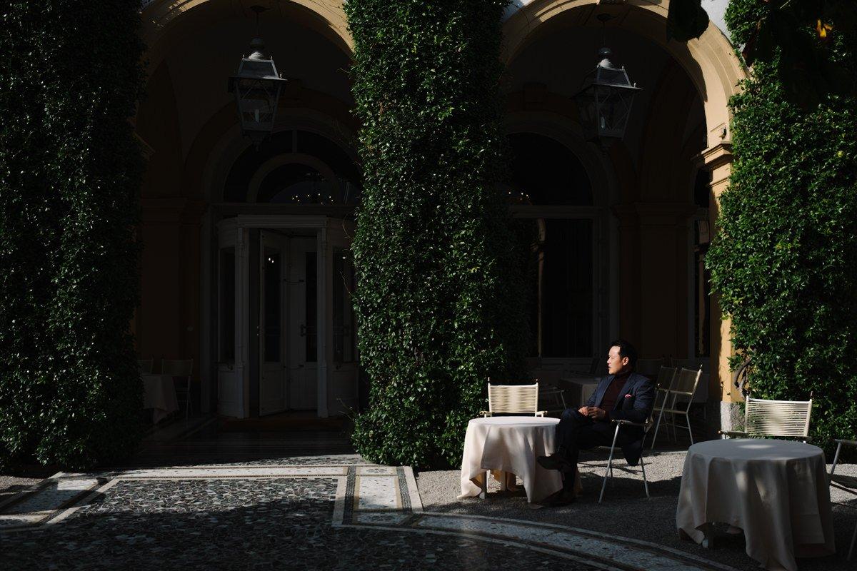 Wedding proposal on lake Como,Italy
