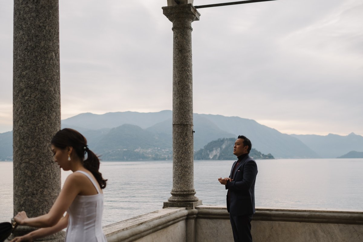 Wedding proposal on Lake Como, couple shoot.