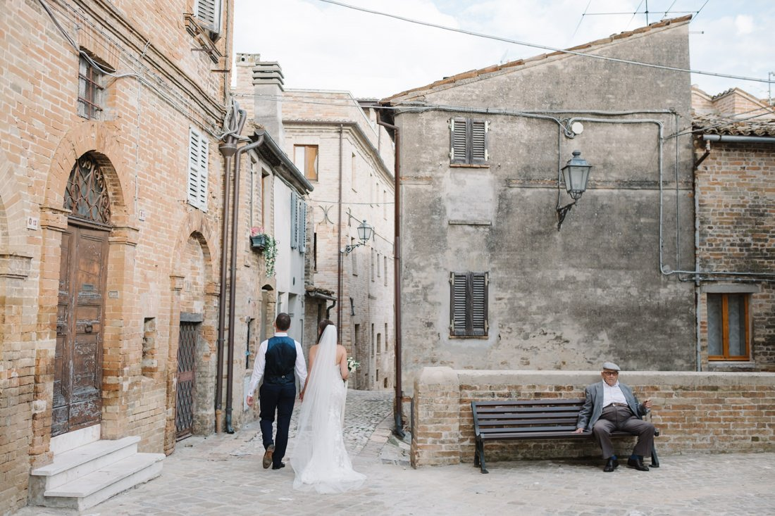 Destination Wedding photographer in Petritoli. Bride & Groom Photo - Wedding in Marche