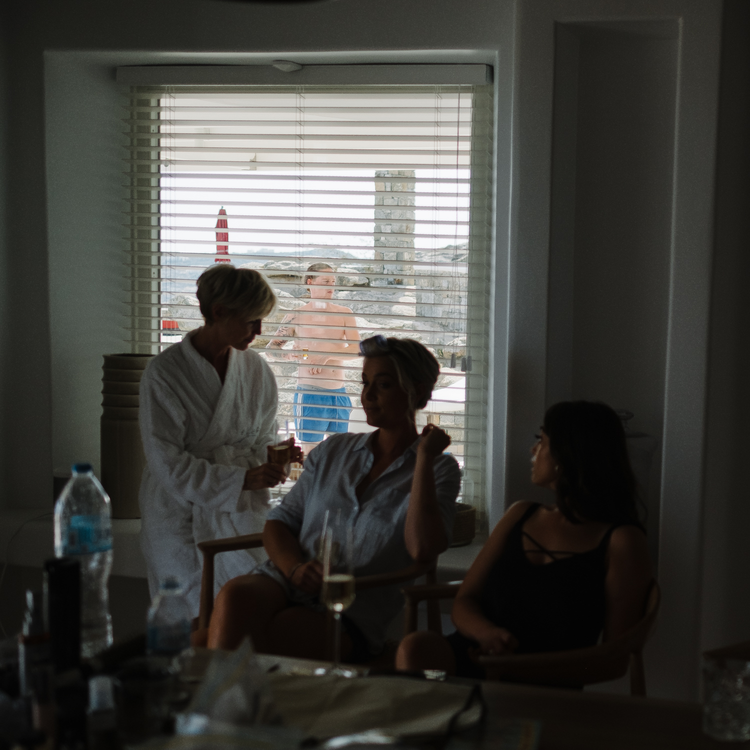 Destination wedding photographer Greece. Bride is getting ready