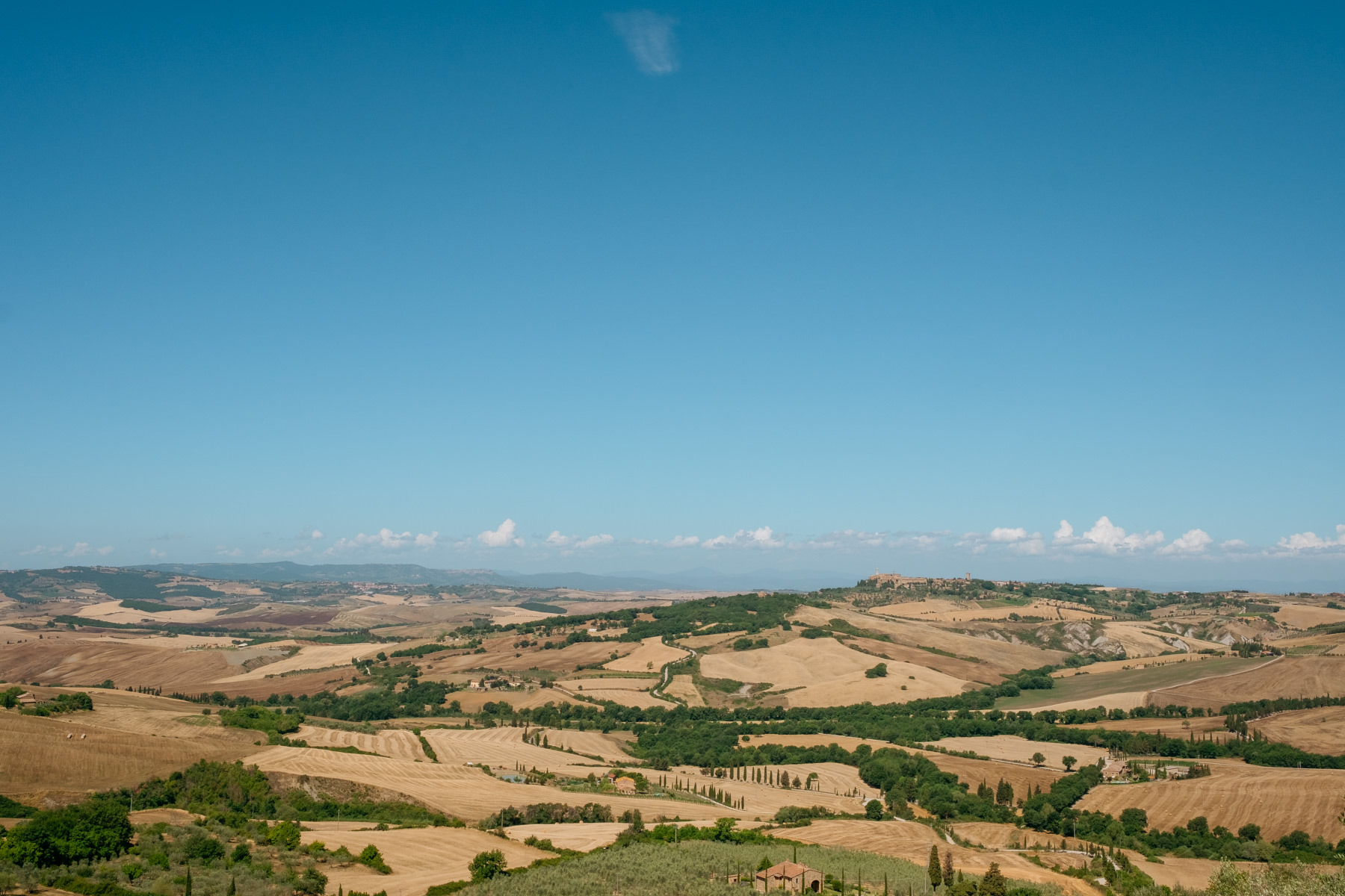 spectacular view at La Foce wedding