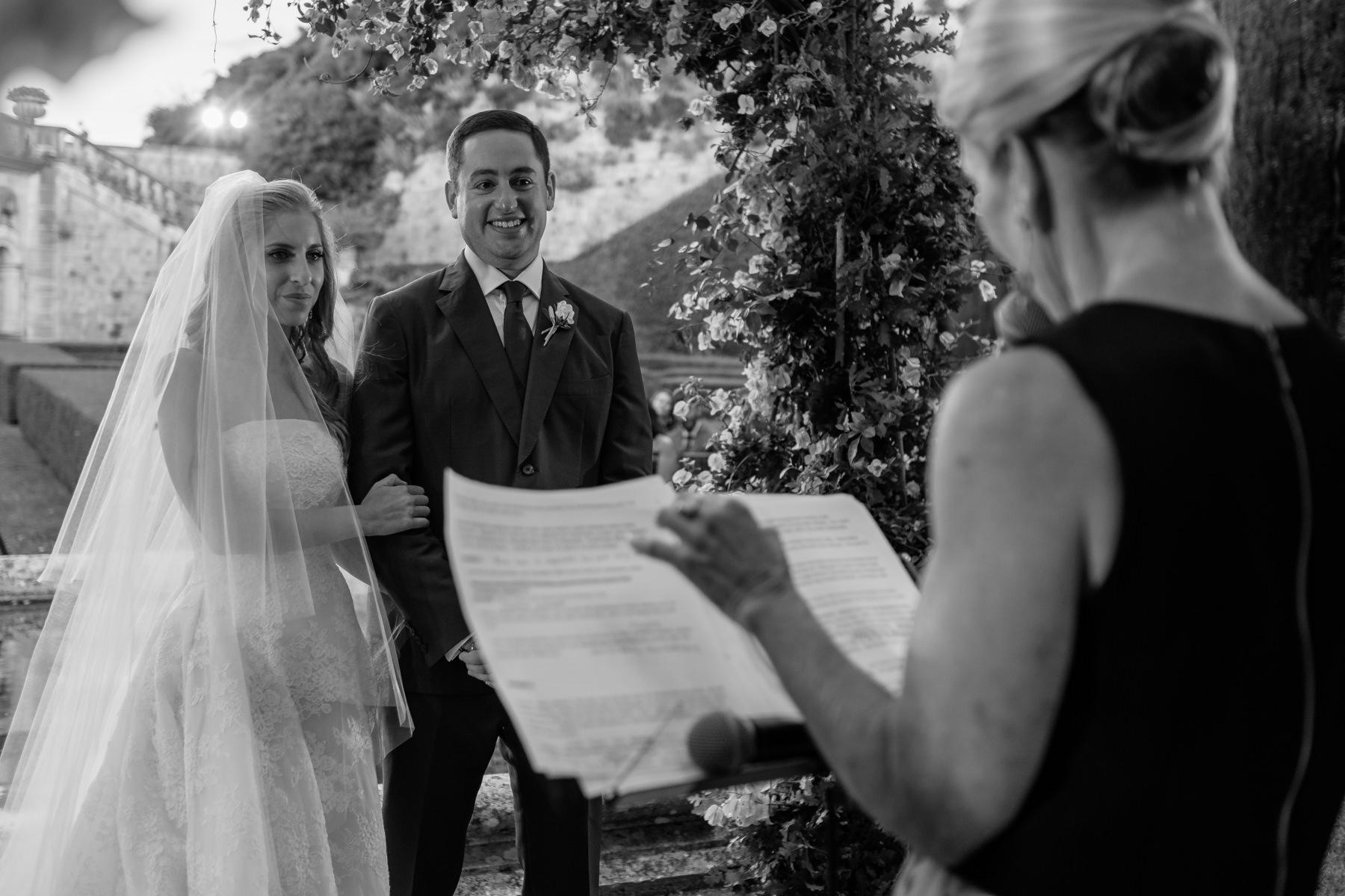 La Foce wedding in Tuscany Villa the ceremony