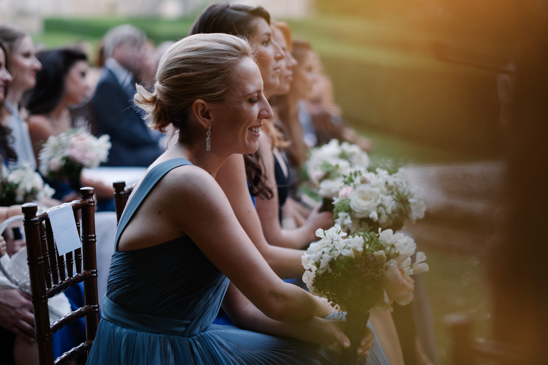 guests at the wedding at la foce