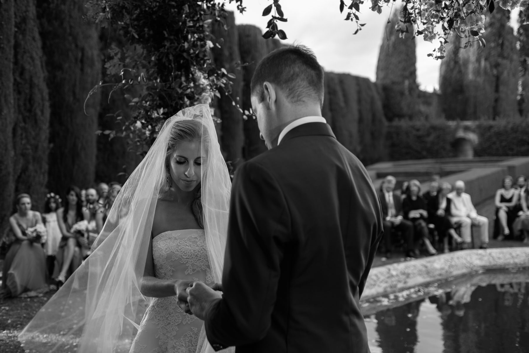 religious ceremony at la foce in Tuscany