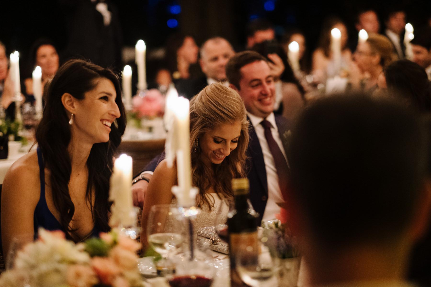 wedding dinner at la foce in Tuscany villa