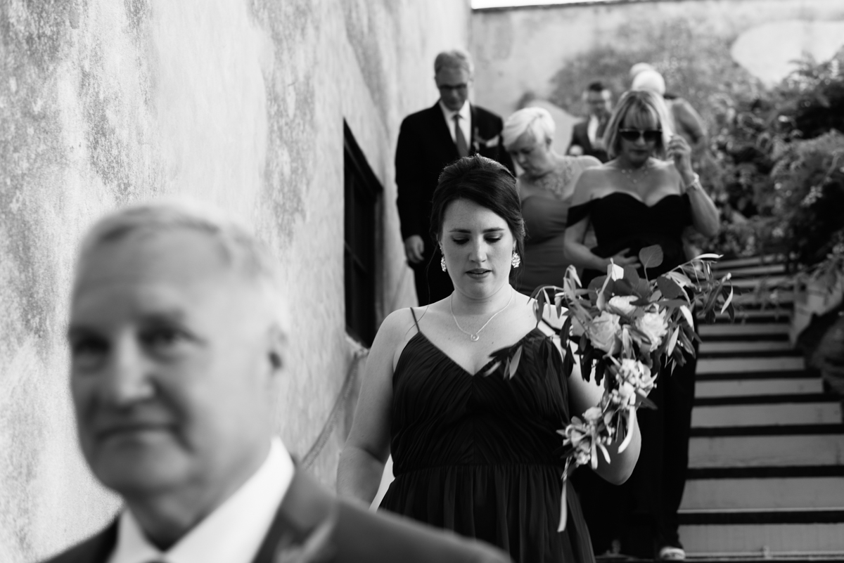 processional moments at the wedding