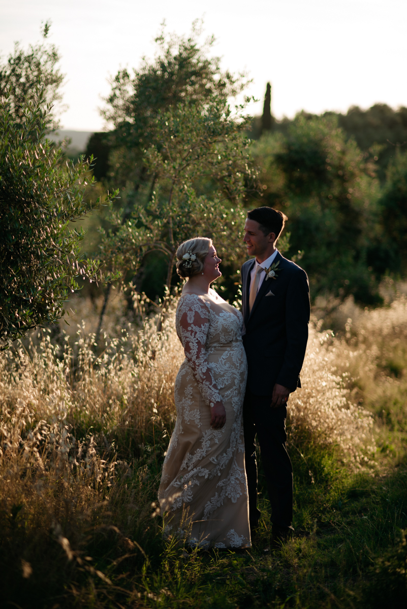 olive trees couple session in tuscany