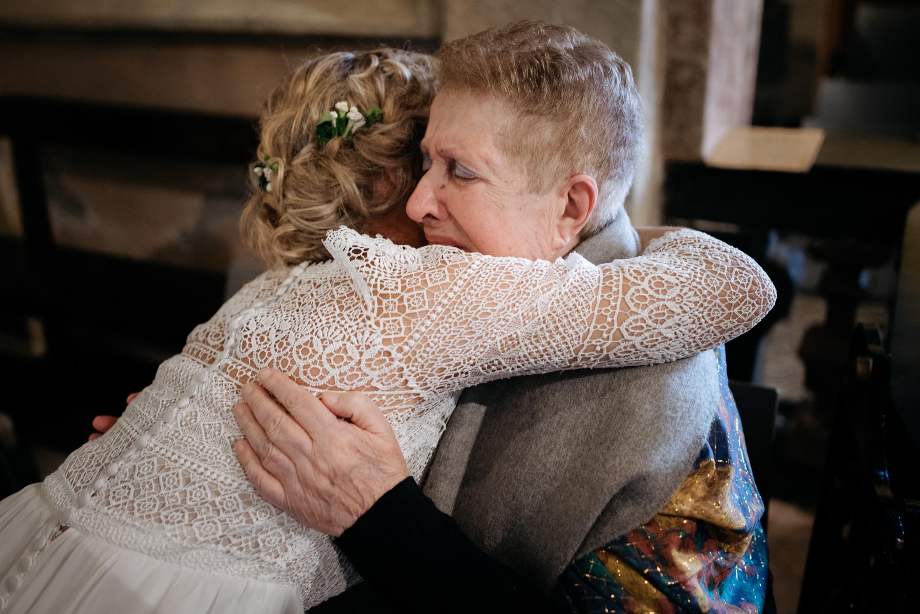 emotional photos of the bride