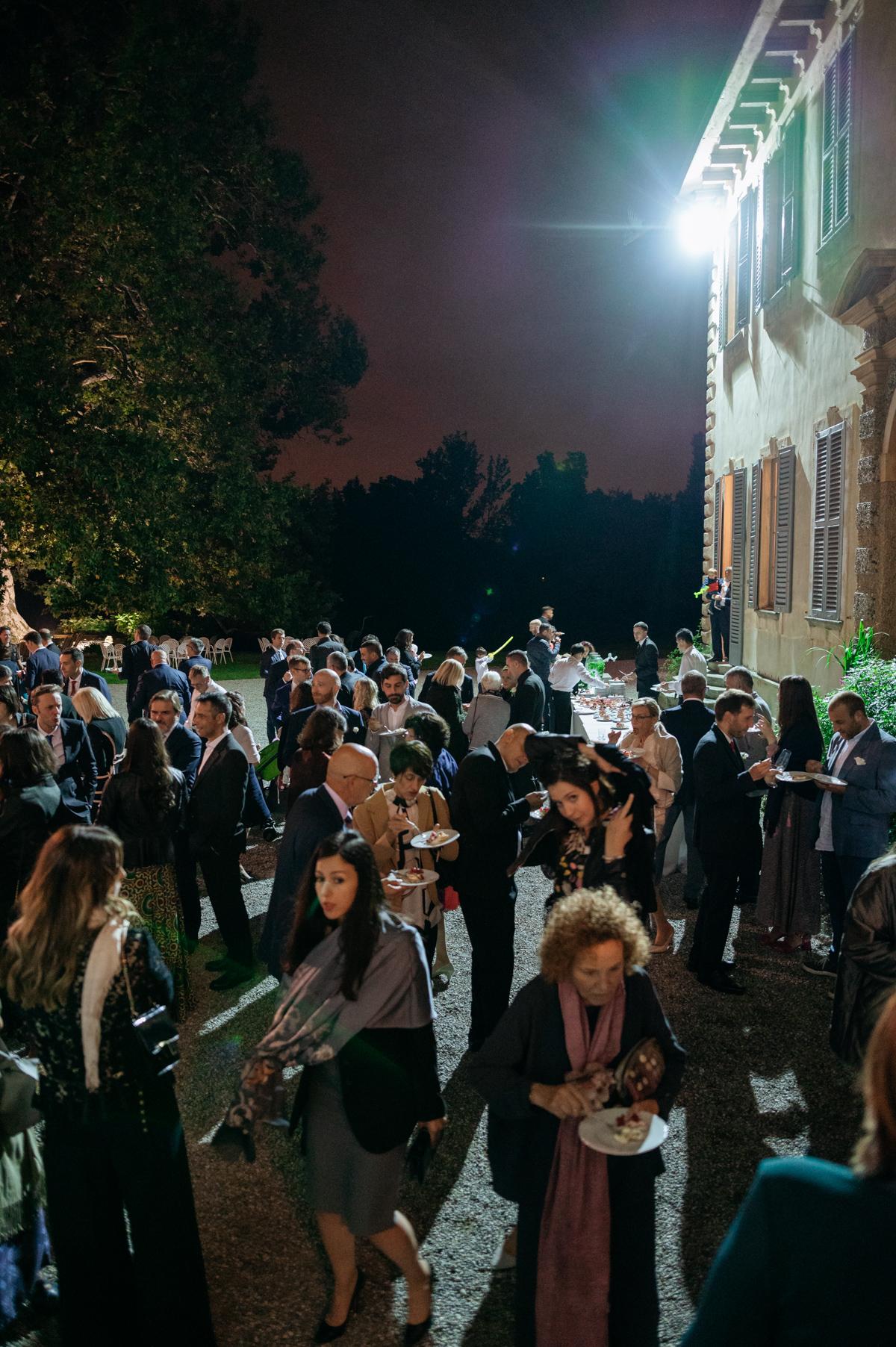 wedding buffet at night italy
