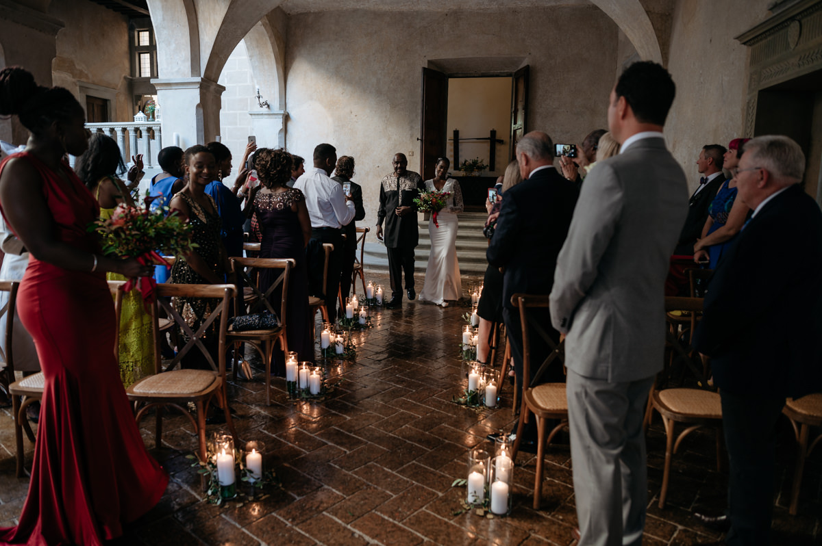 religious wedding ceremony in tuscany