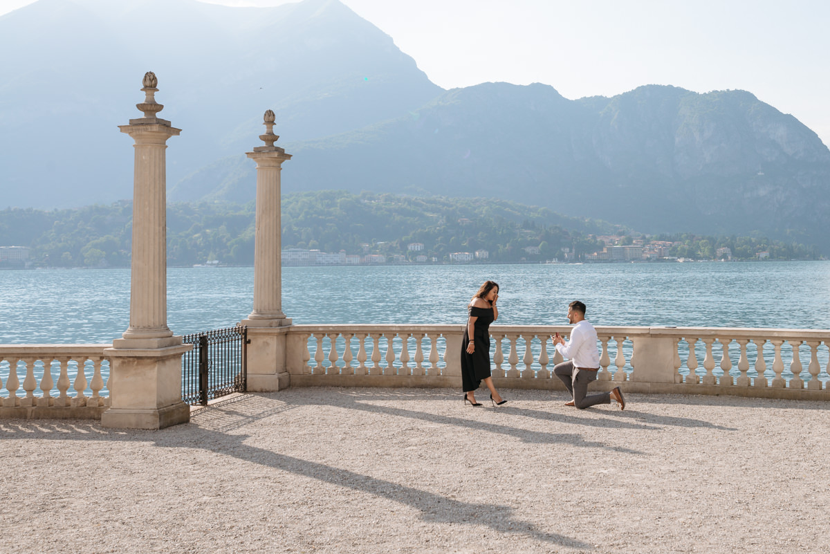 Where to propose in Italy in Bellagio Lake Como