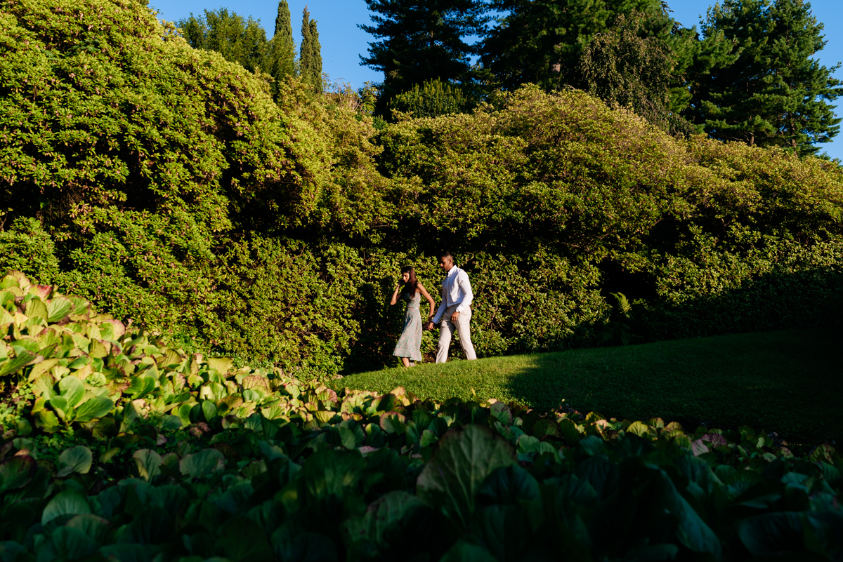 engagement session in an Italian villa on Lake Como