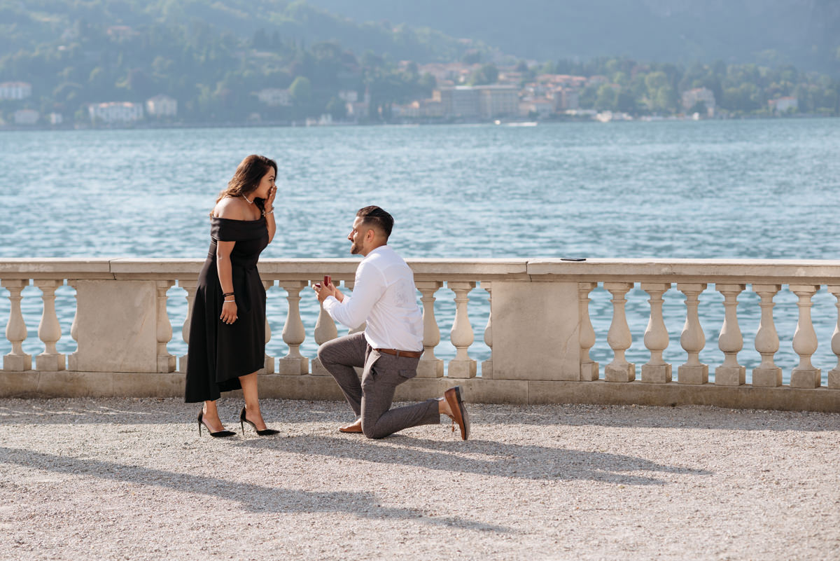 Where to propose in Italy in Bellagio Lake Como
