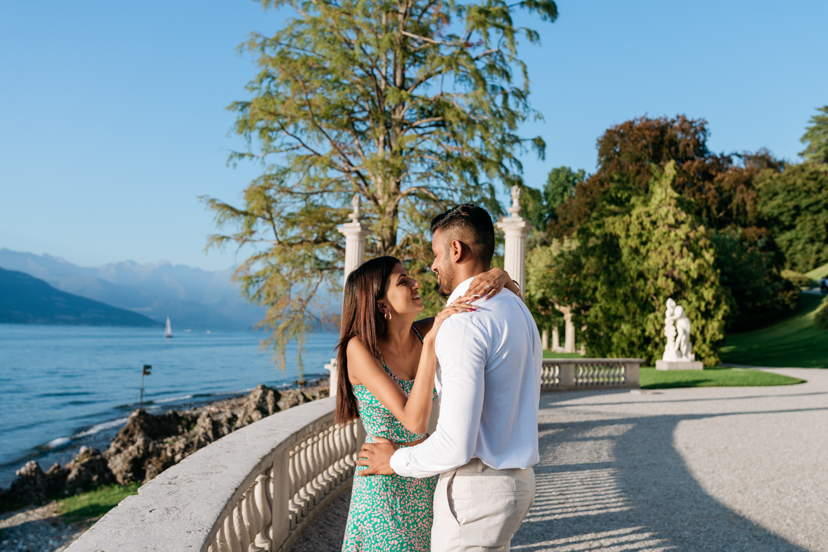wedding proposal at Villa Melzi on Lake Como