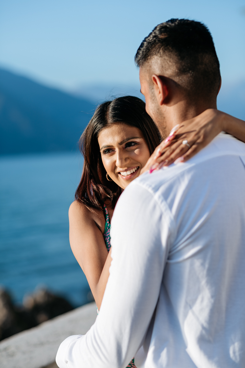 Marriage proposal in Italy on Lake Como