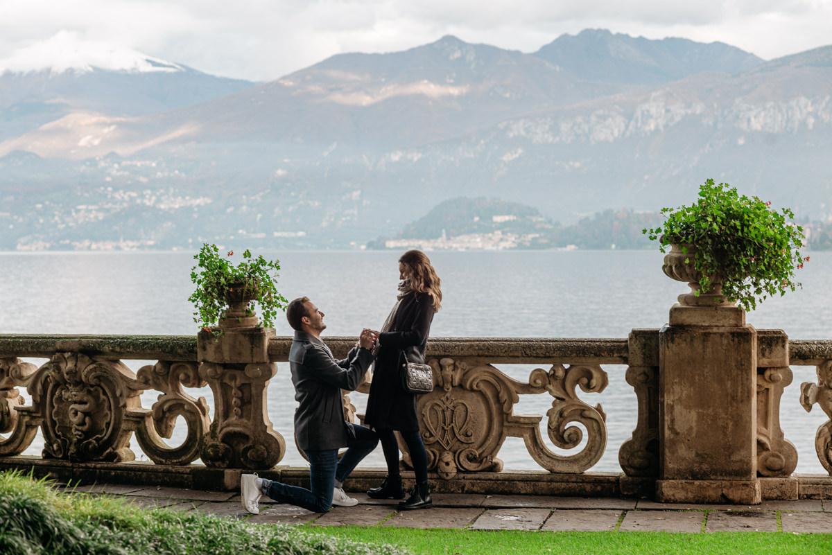 Lake Como proposal at Villa del Balbianello