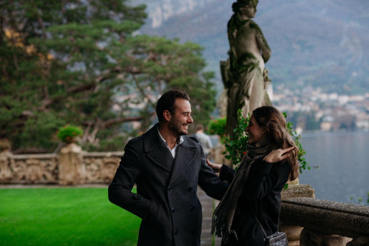 she said yes on Lake Como