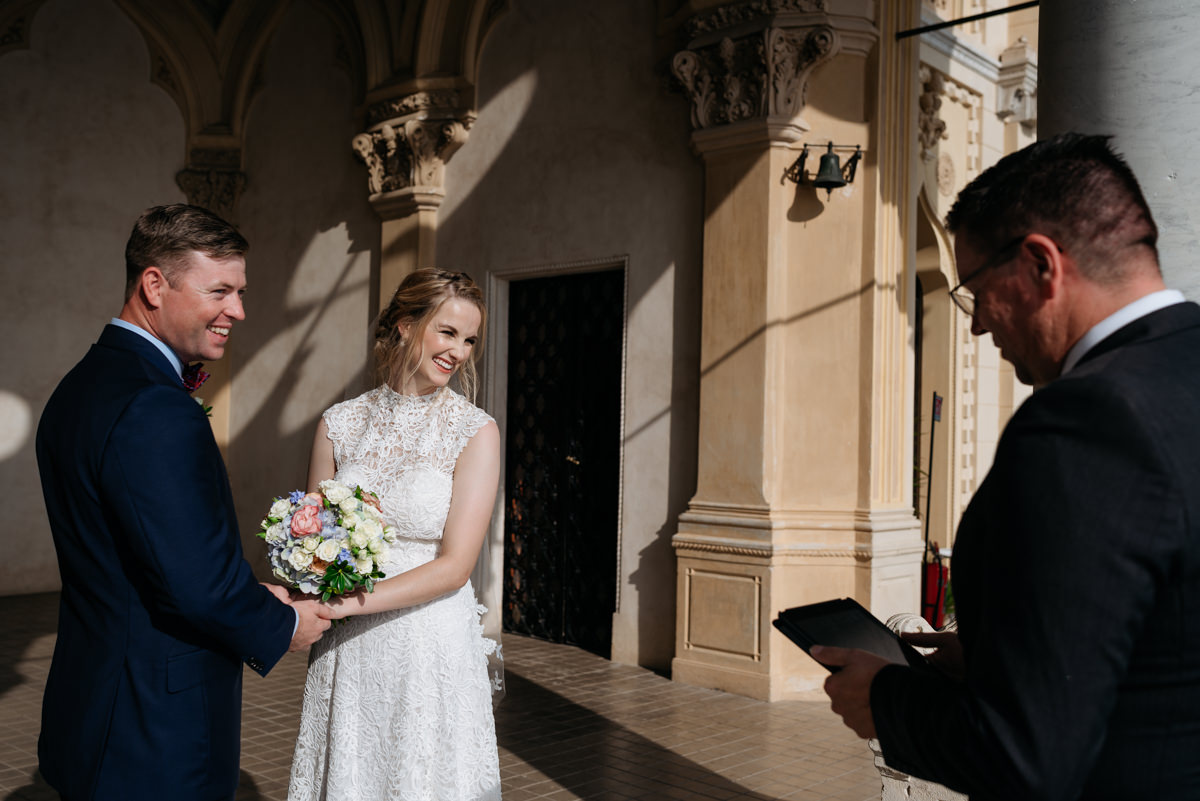 romantic ceremony for an elopement in Italy