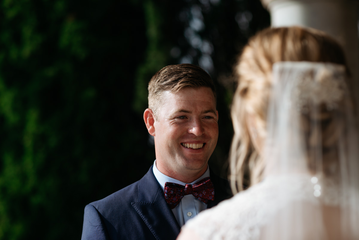 groom candid portrait
