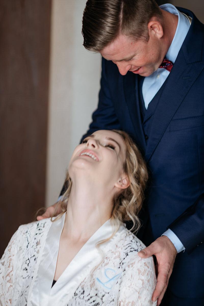 first look on Lake Garda wedding