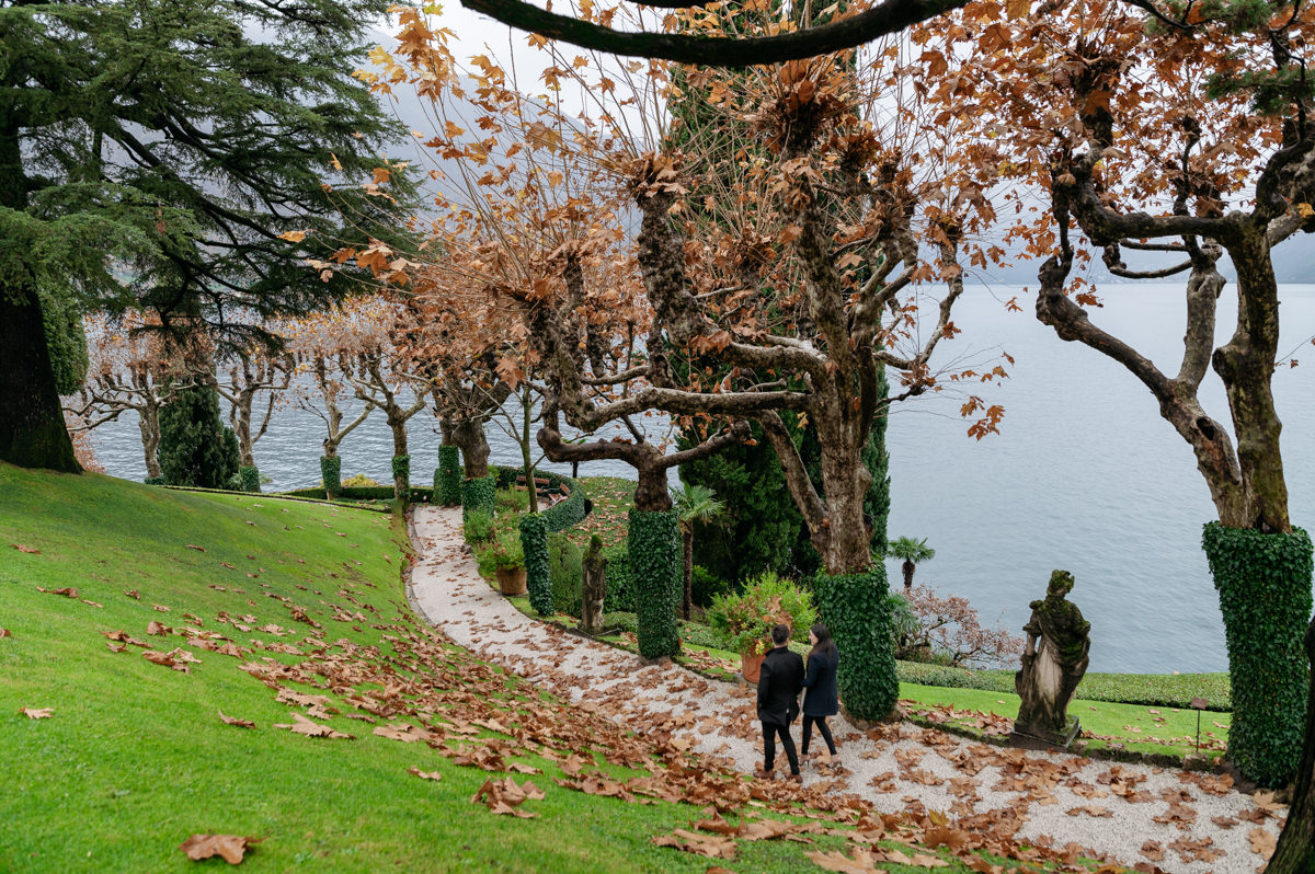 autumn wedding proposal in Lake Como