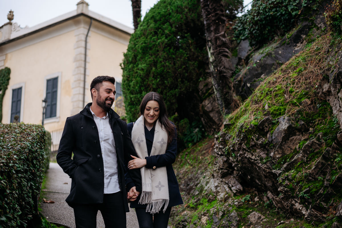 romantic moments in Lake Como